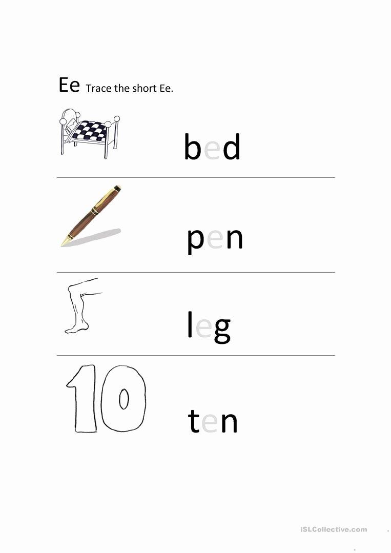 Long E Short E Worksheets Best Of Short E sound English Esl Worksheets for Distance Learning