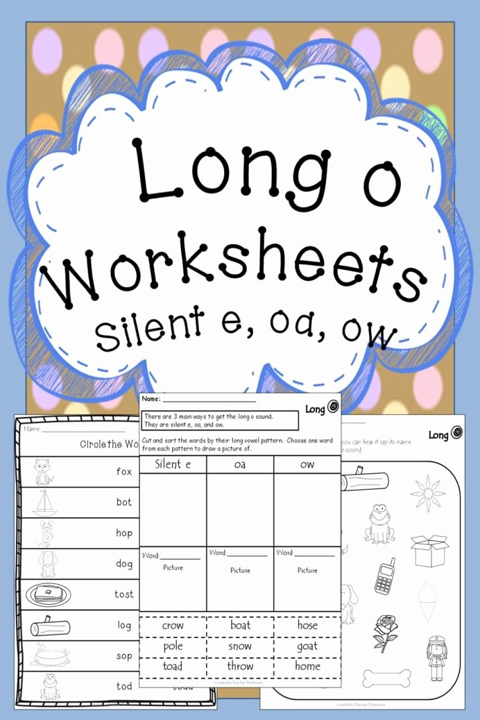 Long O Silent E Worksheets Lovely Long Vowel O Silent E Worksheets Worksheets 5 Examples Of