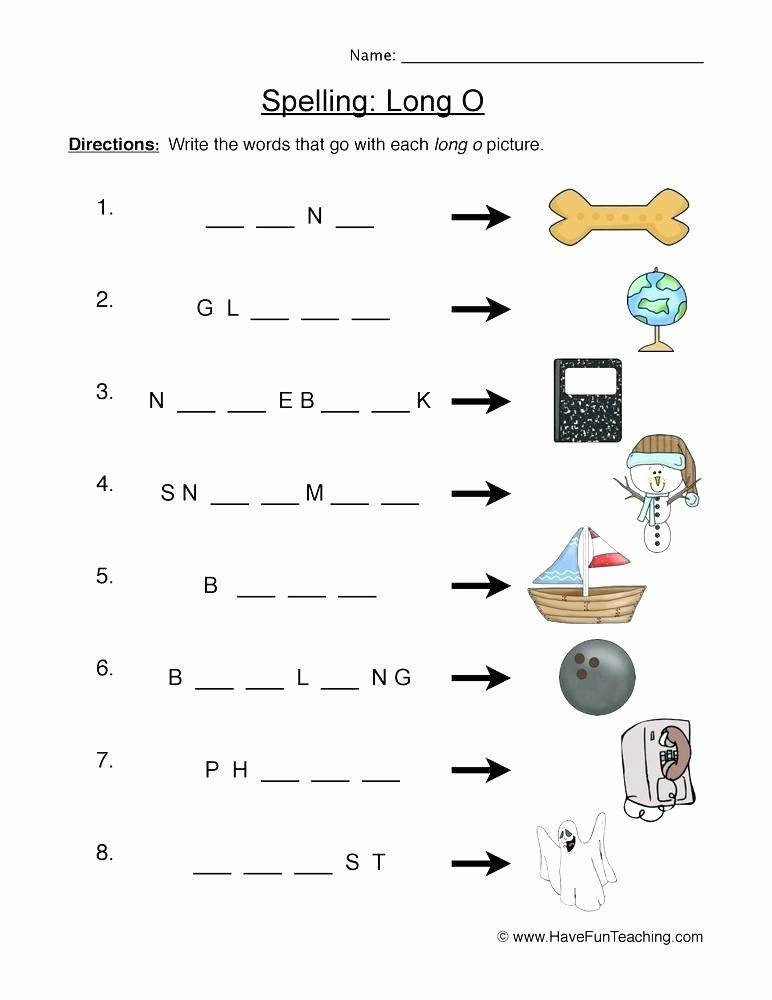 Long O Worksheets 2nd Grade Free Vowel Worksheets Lesson Plans Short for Silent Kindergarten