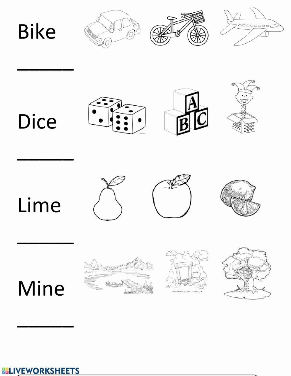 Long Vowel Silent E Worksheet Free Long I Silent E Interactive Worksheet