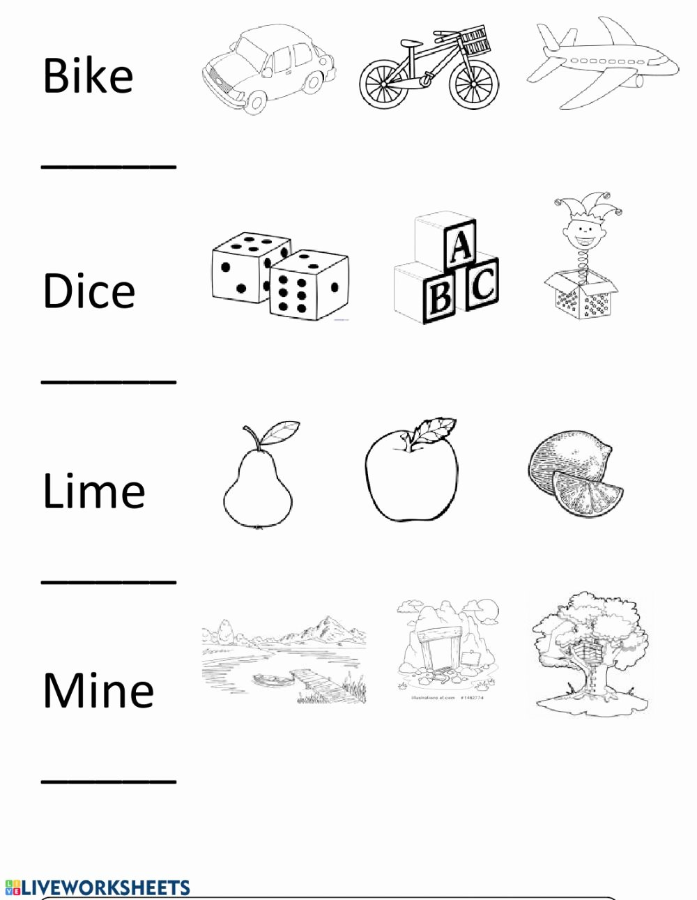 Long Vowel Silent E Worksheets Best Of Long I Silent E Interactive Worksheet