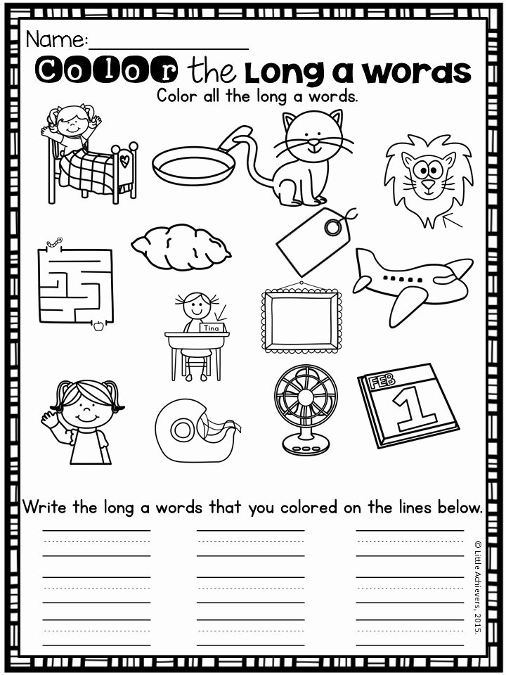 Long Vowel Silent E Worksheets Kids Long Vowels Silent E