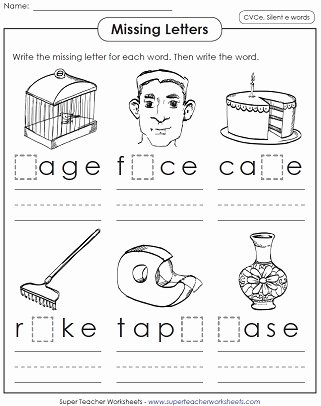Long Vowel Silent E Worksheets New Silent E Worksheets
