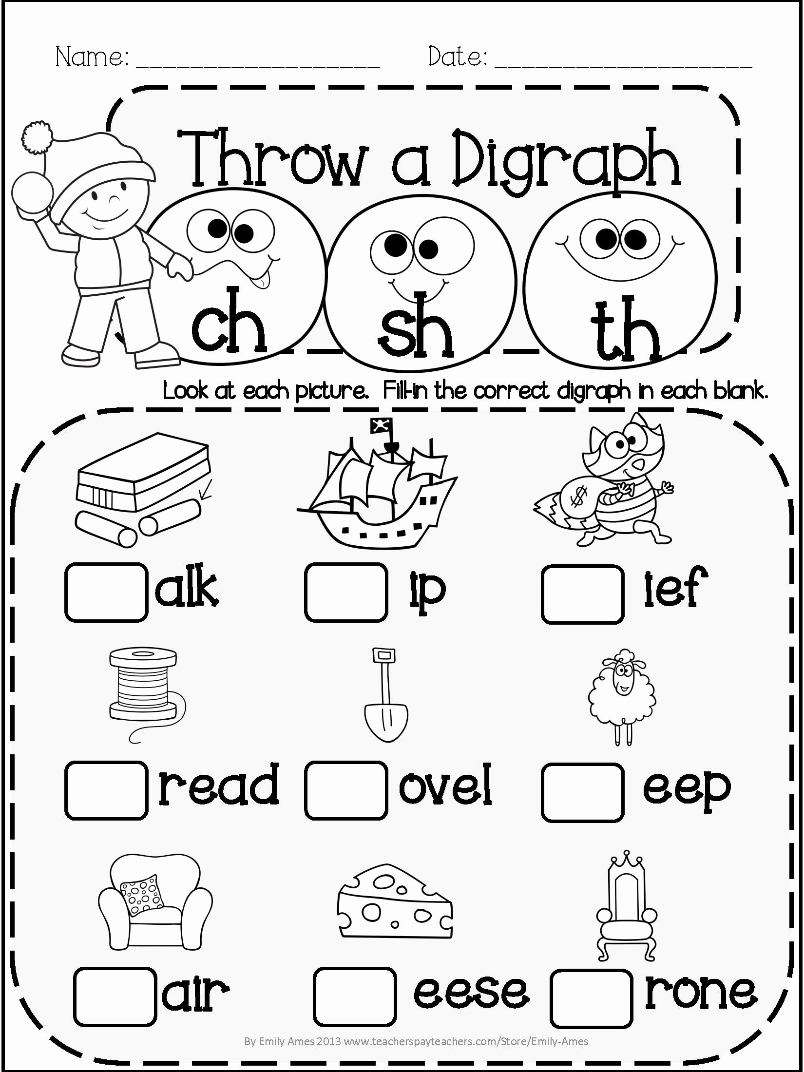 Long Vowel Worksheets First Grade Best Of Winter Literacy Fun Short & Long Vowels Blends and