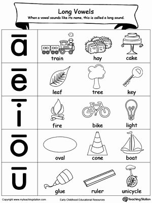 Long Vowel Worksheets First Grade Kids Short A sound Worksheet