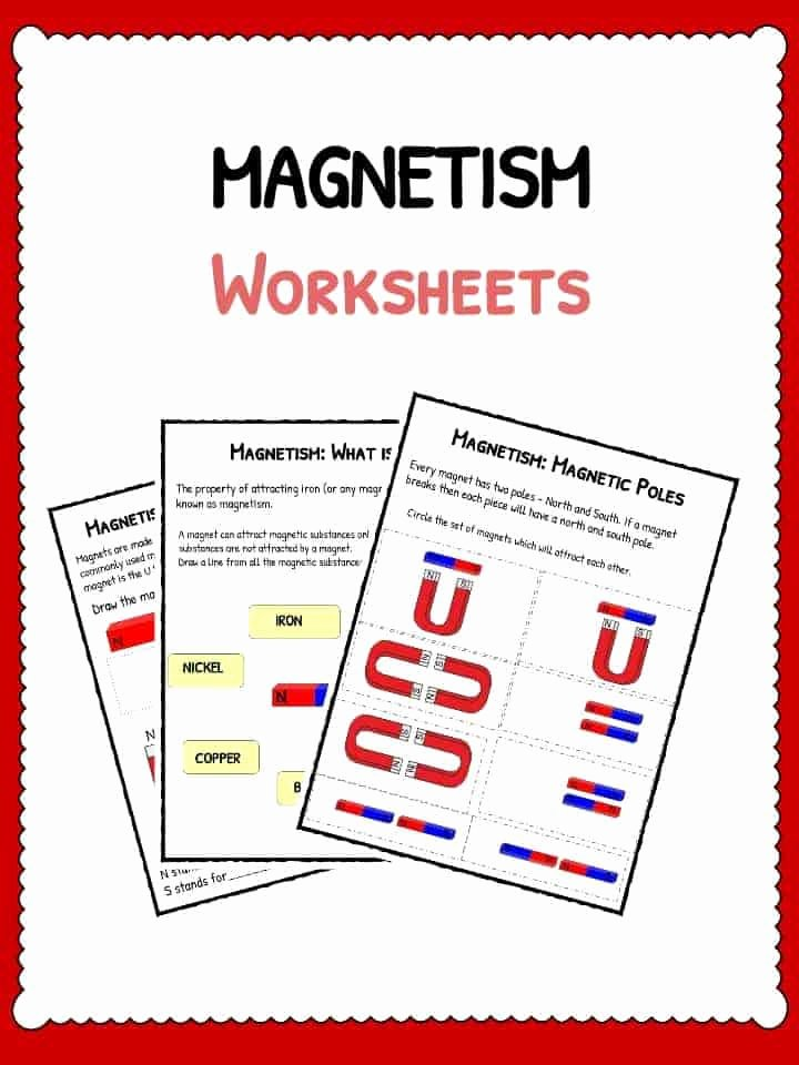 Magnetism Worksheet for High School Kids Magnetism Worksheets