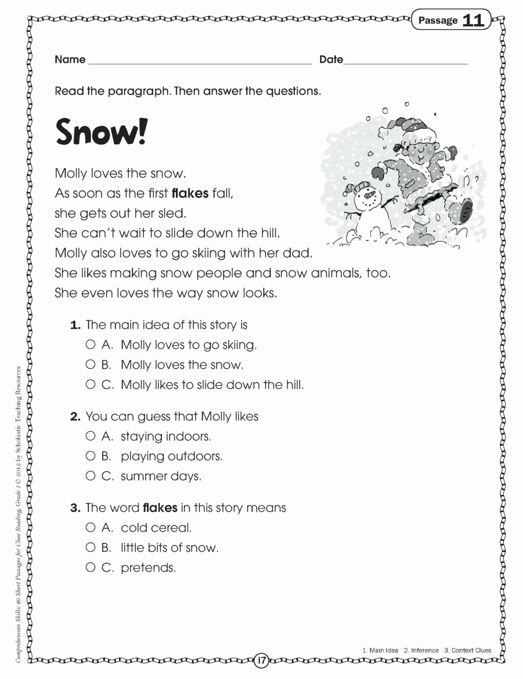 Main Idea 2nd Grade Worksheet Fresh Worksheet Worksheet Main Idea Worksheets 4th Grade to