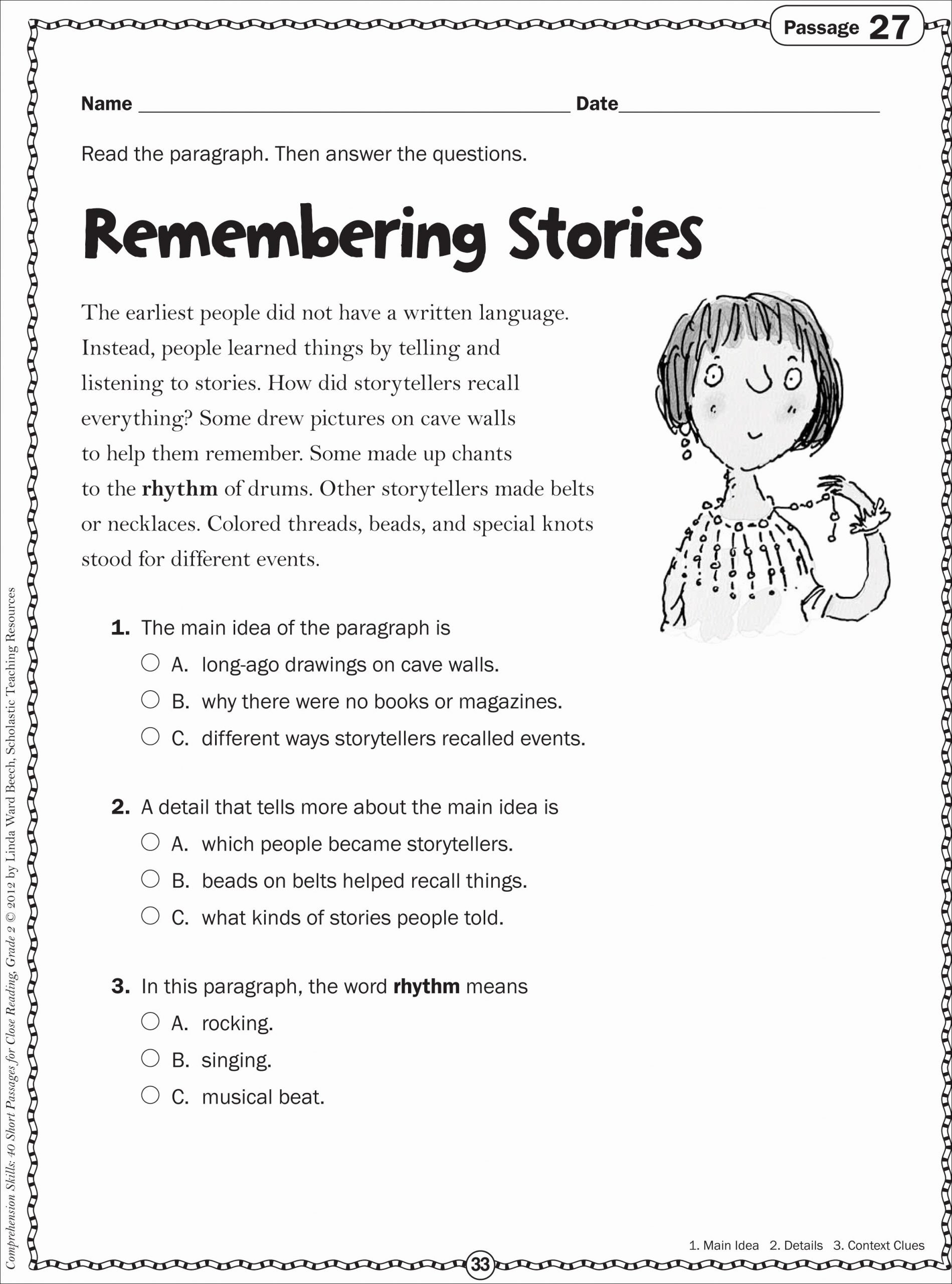 Main Idea First Grade Worksheets Printable Main Idea First Grade Worksheets In 2020 with Images