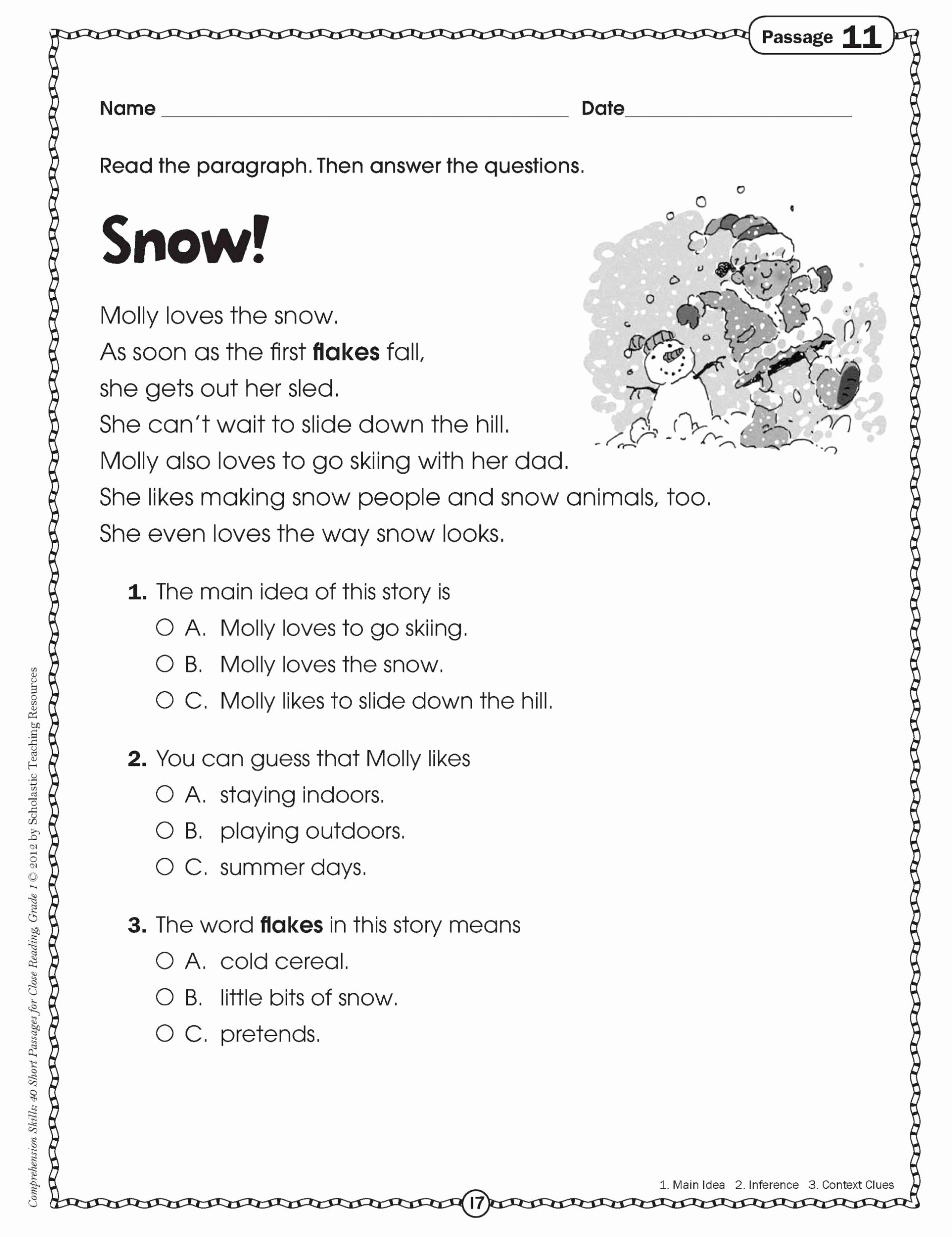 Main Idea Worksheet 3rd Grade Fresh Math Worksheet Third Grade Reading Passages Line