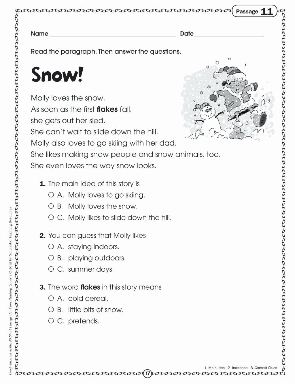Main Idea Worksheets 2nd Grade Free Worksheet Worksheet Main Idea Worksheets 4th Grade to