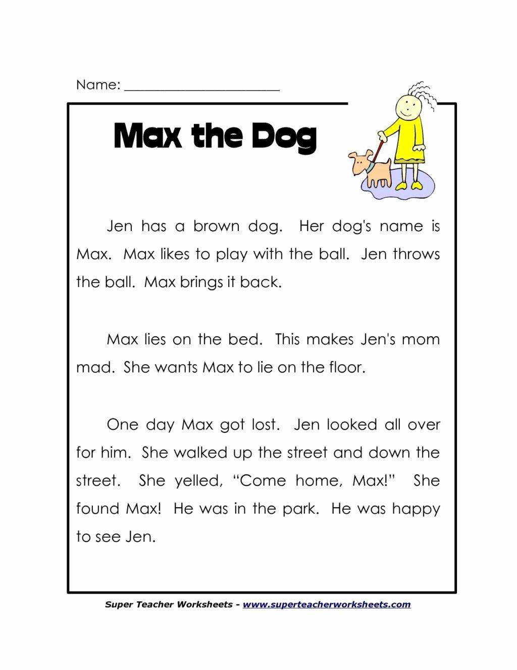 Main Idea Worksheets Grade 1 Kids Worksheet Free Reading Prehension Worksheets Grade Htc
