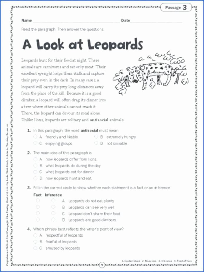 Main Idea Worksheets Grade 1 Lovely Main Idea Worksheets 5th Grade for Printable Math Graders