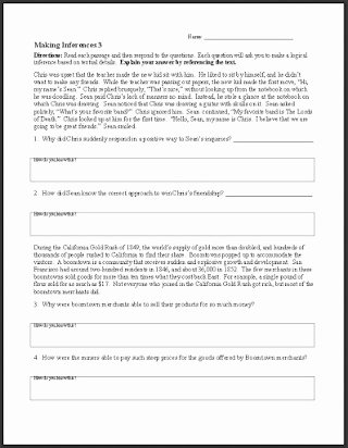 Making Inference Worksheets 4th Grade Printable Free Making Inferences Worksheets 6th Grade