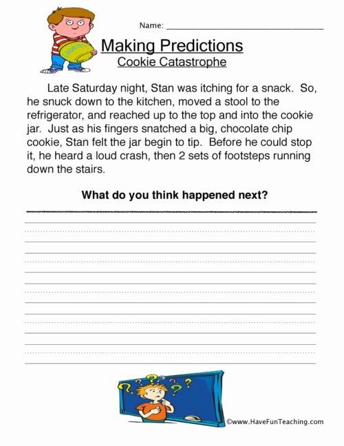Making Predictions Worksheets 2nd Grade Ideas Predictions Worksheets • Have Fun Teaching