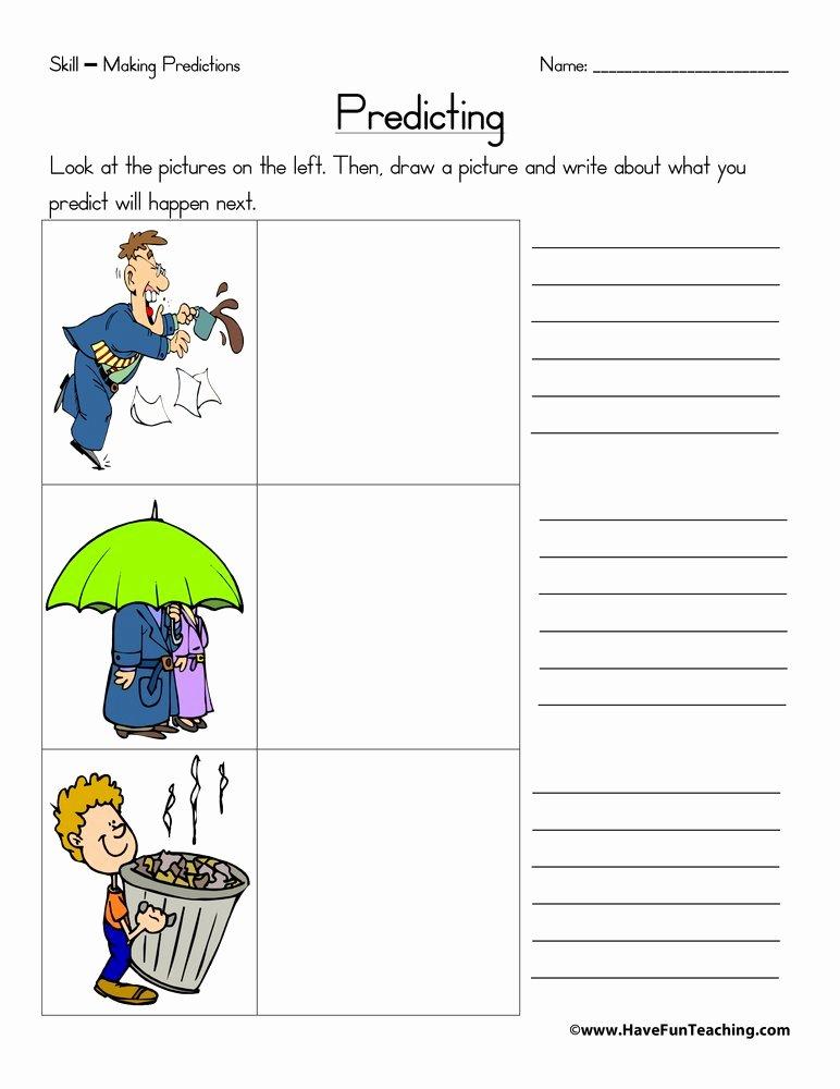 Making Predictions Worksheets 3rd Grade Best Of Predicting Worksheet