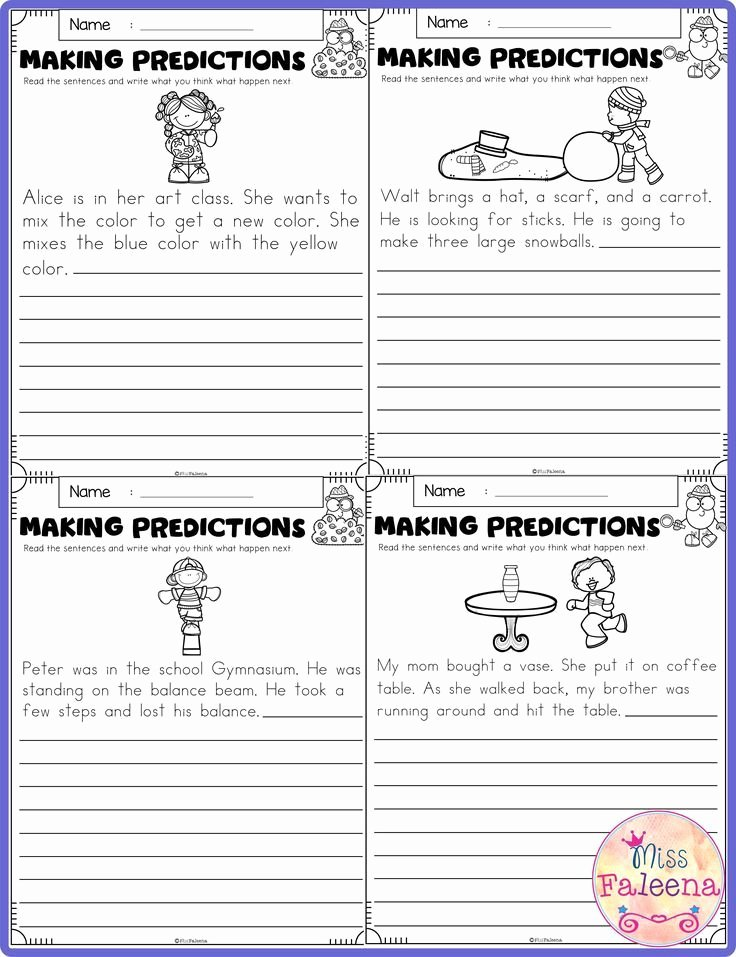 Making Predictions Worksheets 3rd Grade Fresh Free Making Predictions