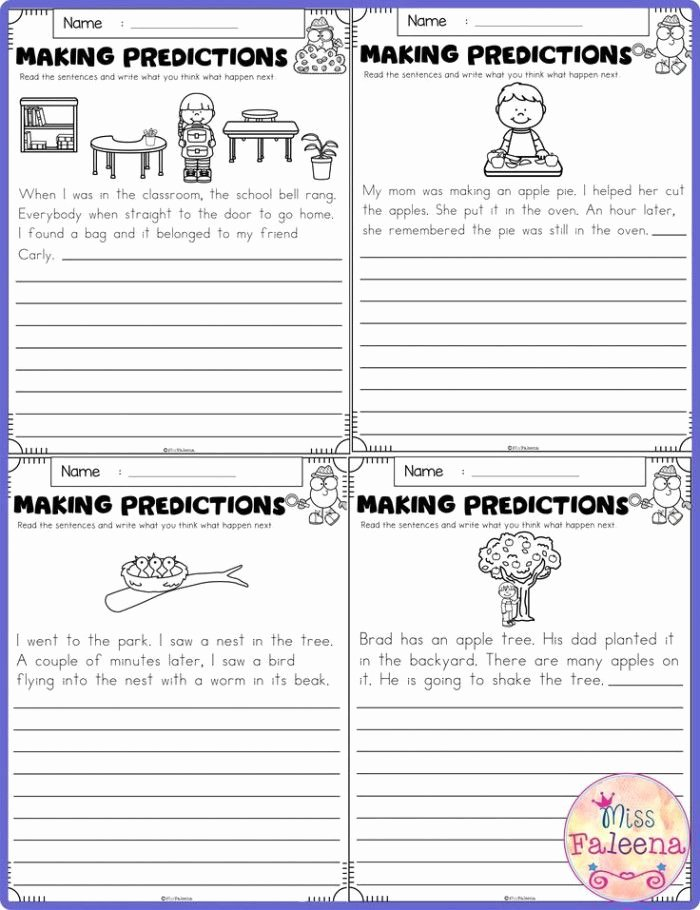 Making Predictions Worksheets 3rd Grade Kids Making Predictions Worksheets 3rd Grade Learning to Make