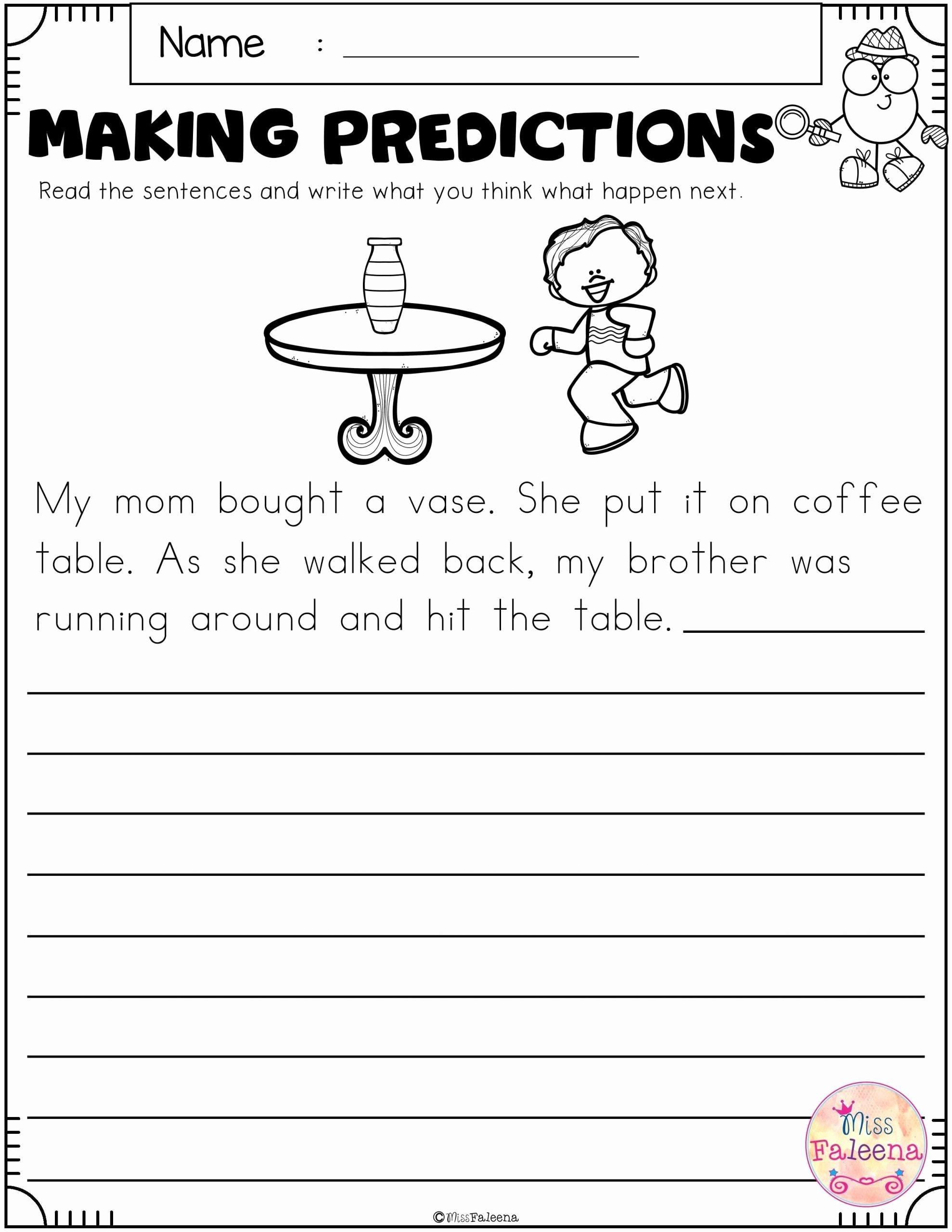 Making Predictions Worksheets 3rd Grade Printable Making Predictions Worksheets 3rd Grade In 2020