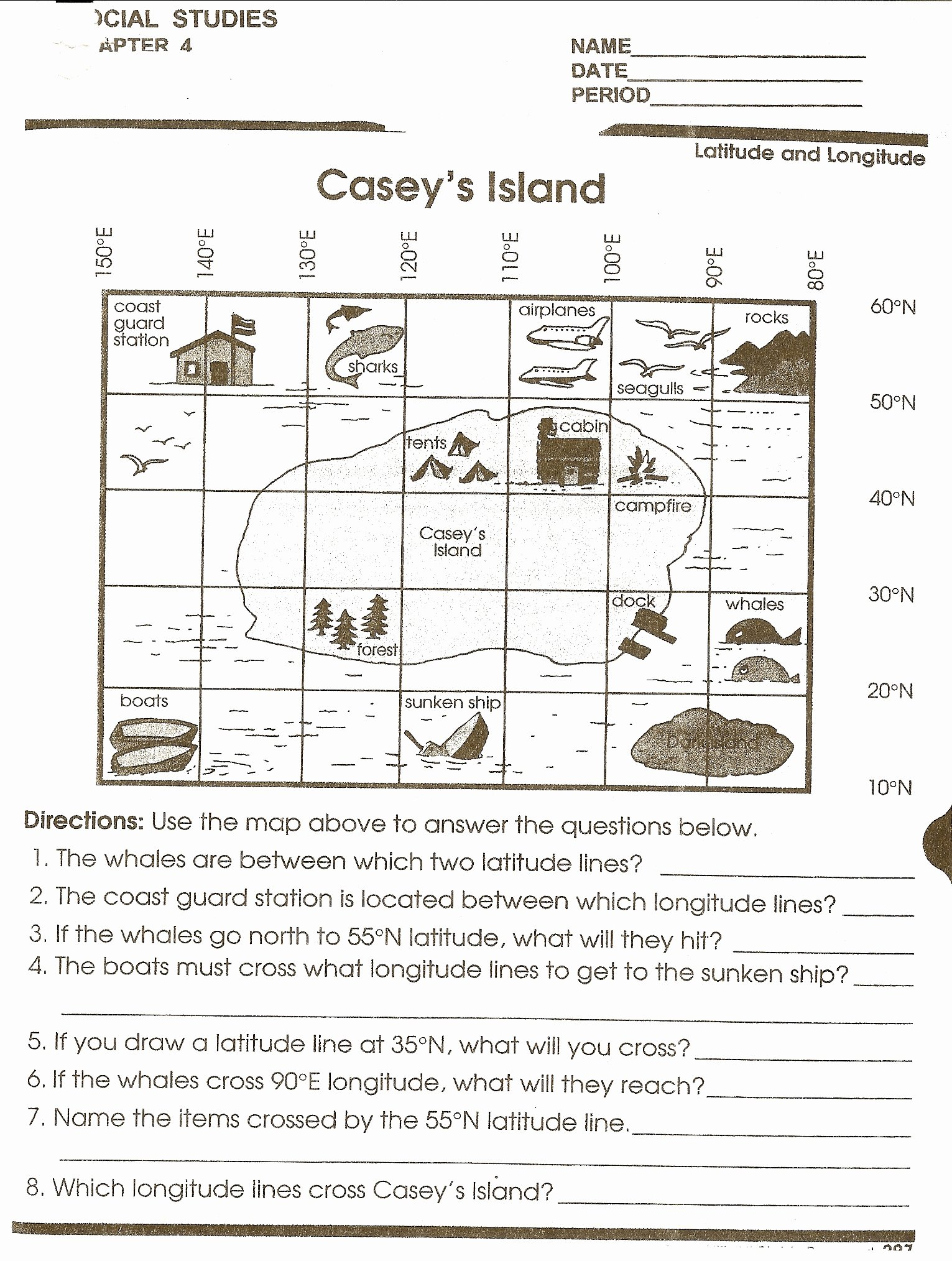 Map Scale Worksheet 4th Grade Free Using Scale A Map Worksheet