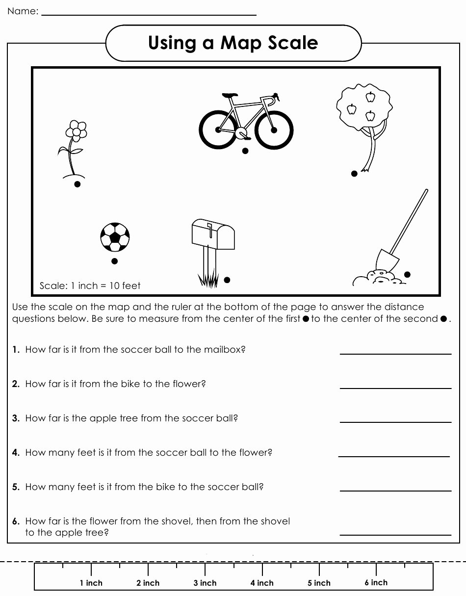 Map Scale Worksheet 4th Grade Ideas Map with Scale Worksheets