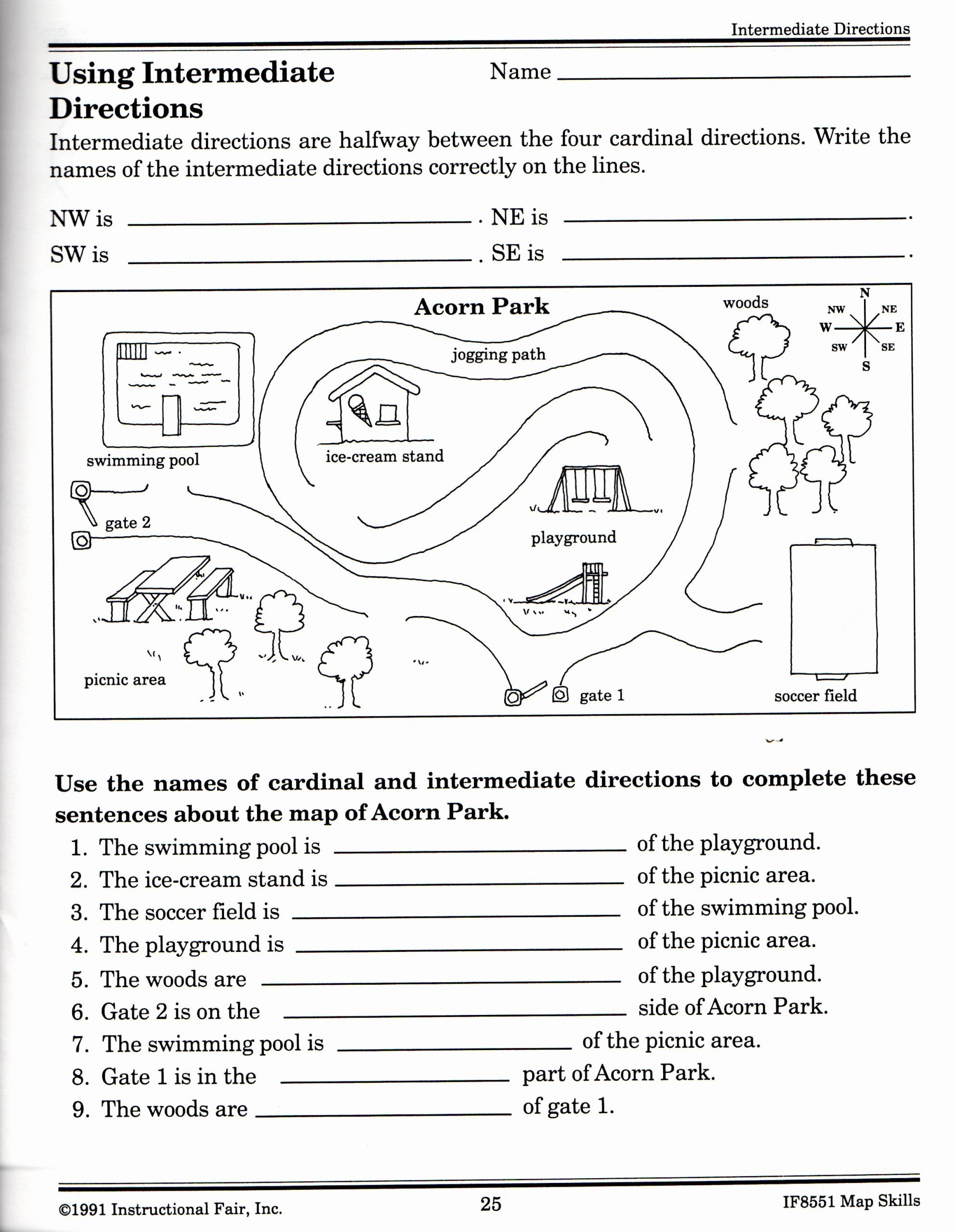 Map Skills Worksheet 2nd Grade top 21 Awesome Following Directions Worksheet for You S
