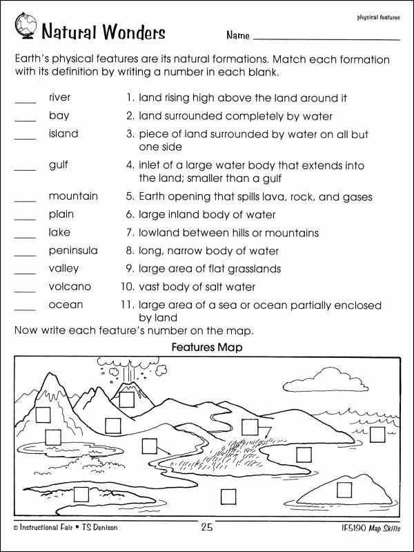 Map Skills Worksheet 2nd Grade top Worksheet Map Skills Worksheets 3rd Grade Free Map Skills