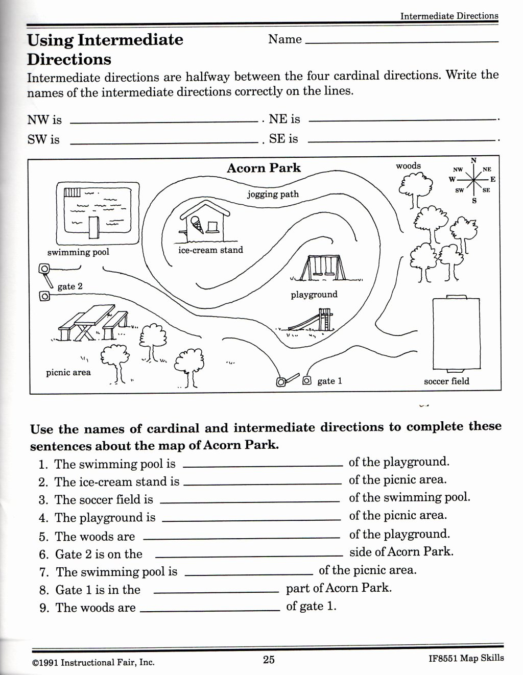 Map Skills Worksheet 4th Grade Best Of Map Skills Worksheets for Print Map Skills Worksheets