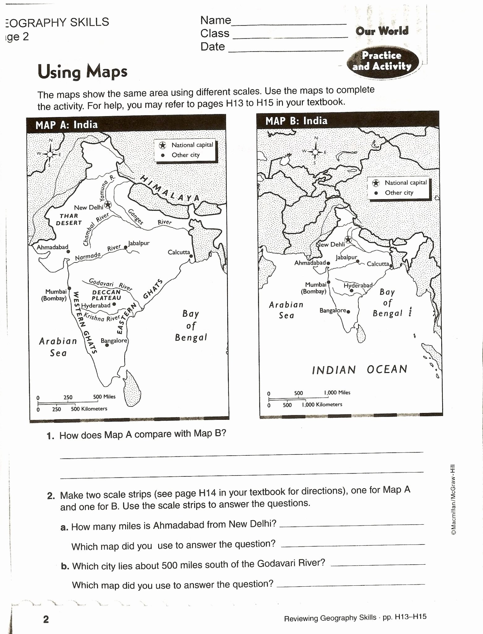 Map Skills Worksheets 6th Grade Printable Map Skills Worksheets for Print Science 6th Grade to Free