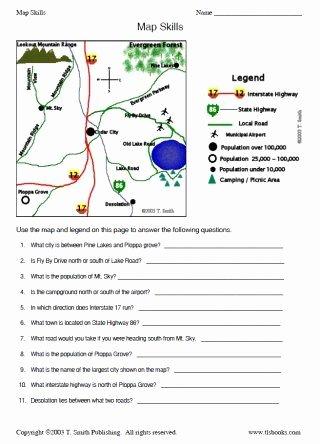 Map Skills Worksheets Middle School New Map Skills Worksheet 2