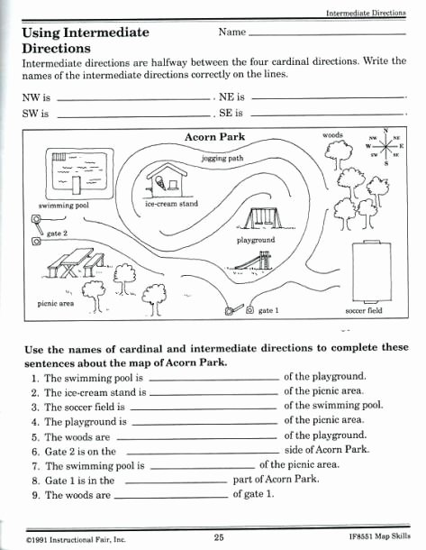 Map Skills Worksheets Middle School New Map Skills Worksheets Middle School In 2020