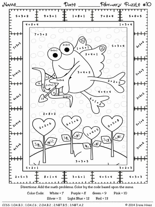 Math Coloring Worksheets 2nd Grade Best Of 2nd Grade Math Color by Number Coloring Pages