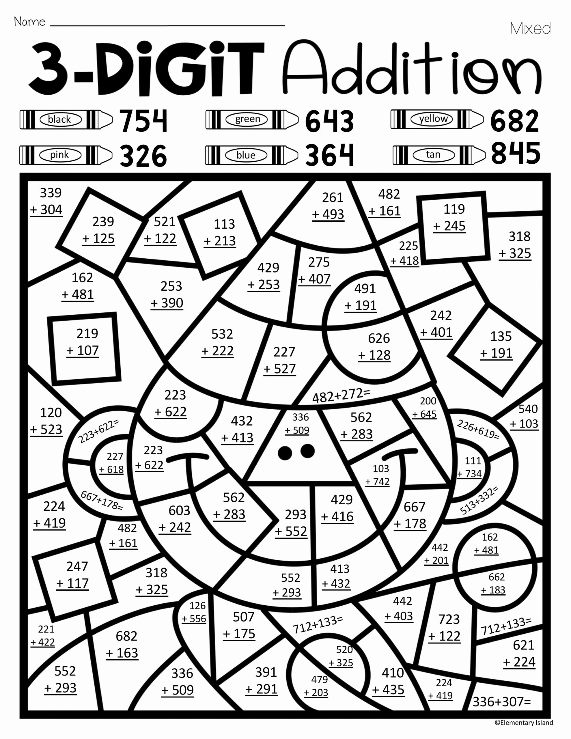 Math Coloring Worksheets 2nd Grade New Math Worksheet Phenomenal Christmas Addition Coloring