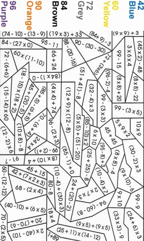 Math Coloring Worksheets 5th Grade Free Pemdas Color by Number Math Coloring Worksheets Fun 5th
