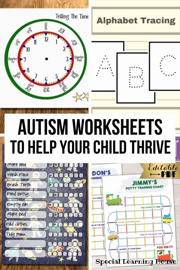 Math Worksheets for Autistic Students Printable Autism Worksheets to Help Your Child Thrive Special Learning