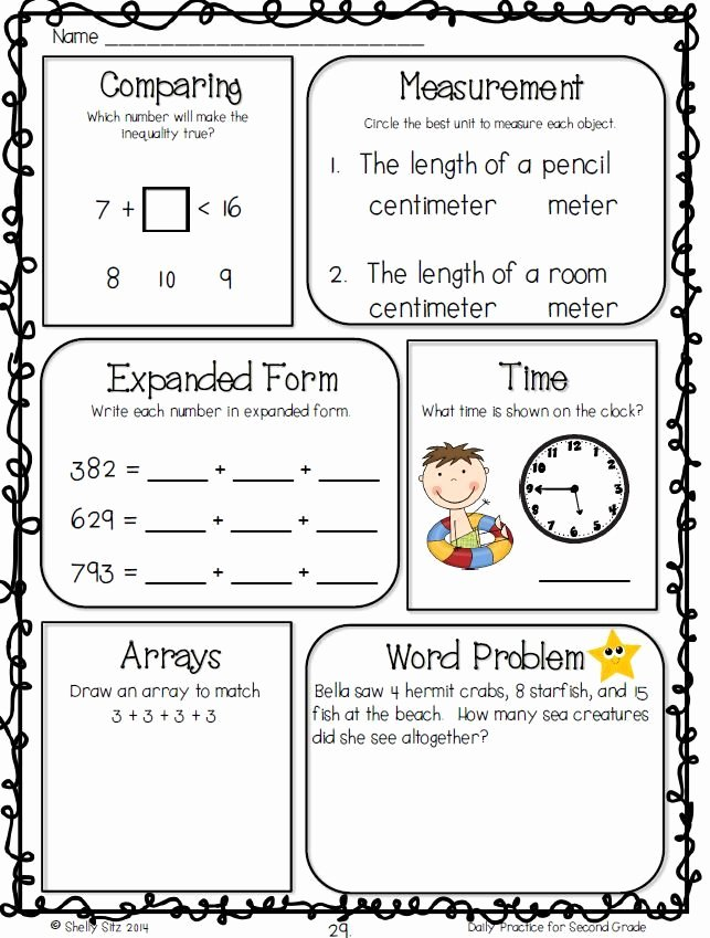 Measurement Worksheets for 2nd Grade Ideas Mon Core Math Worksheet for 2nd Grade Free Measurement