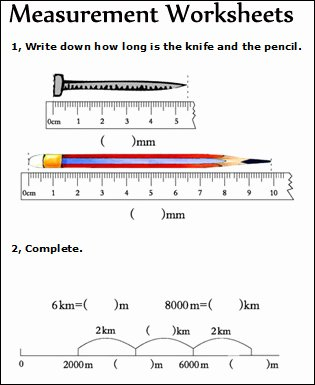 Measurement Worksheets for 2nd Grade Printable Measurement Worksheets Measuring Math Worksheets for Kids