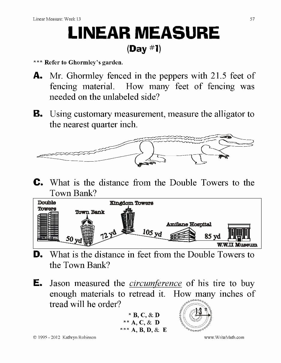 Measurement Worksheets for 3rd Grade Fresh Worksheet Linear Measure Final Pdf T Measurement