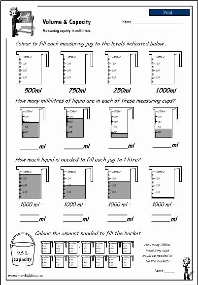 Measuring Liquid Volume Worksheet Answers Free Measuring Liquid Volume Worksheet New Reading A Measuring