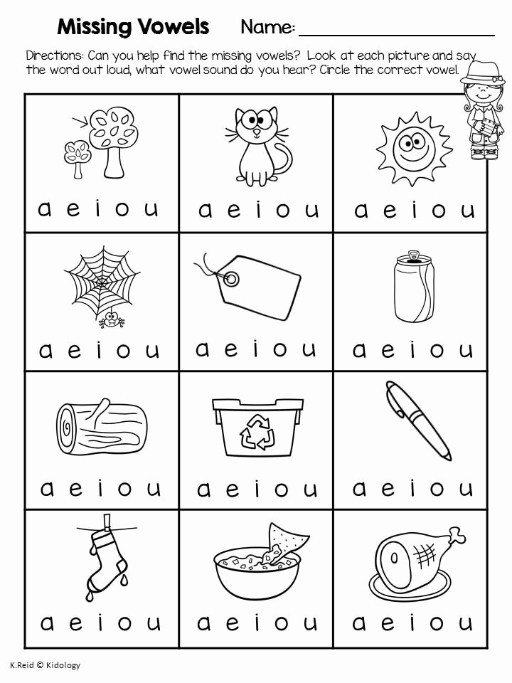 Medial sounds Worksheets First Grade Kids Cvc Worksheet New 734 Cvc Middle A Worksheet