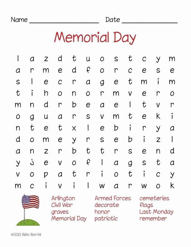 Memorial Day Worksheets Free Printable Inspirational Memorial Day Worksheets Free Printable Memorial Day Word