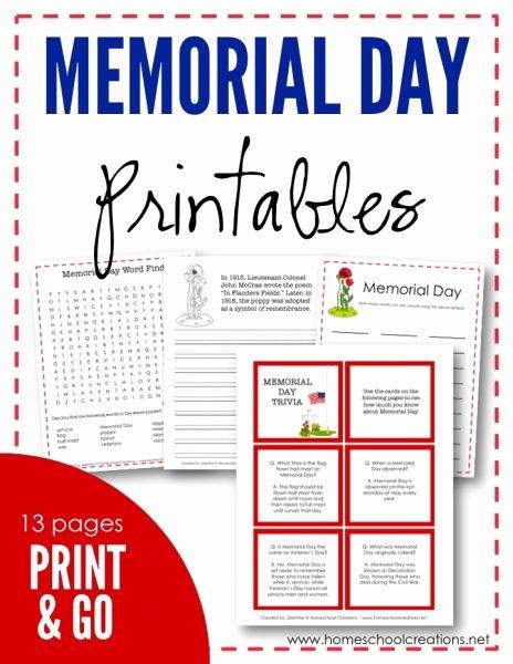 Memorial Day Worksheets Free Printable Kids Memorial Day Printables – Free Printables
