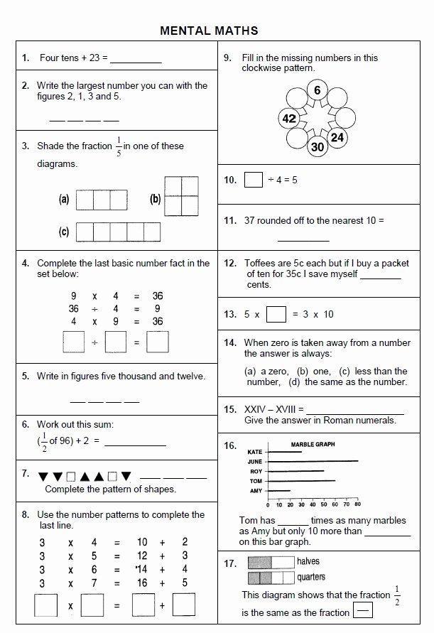 Mental Math Worksheets Grade 6 Free Worksheet Maths E Mental Math Worksheets