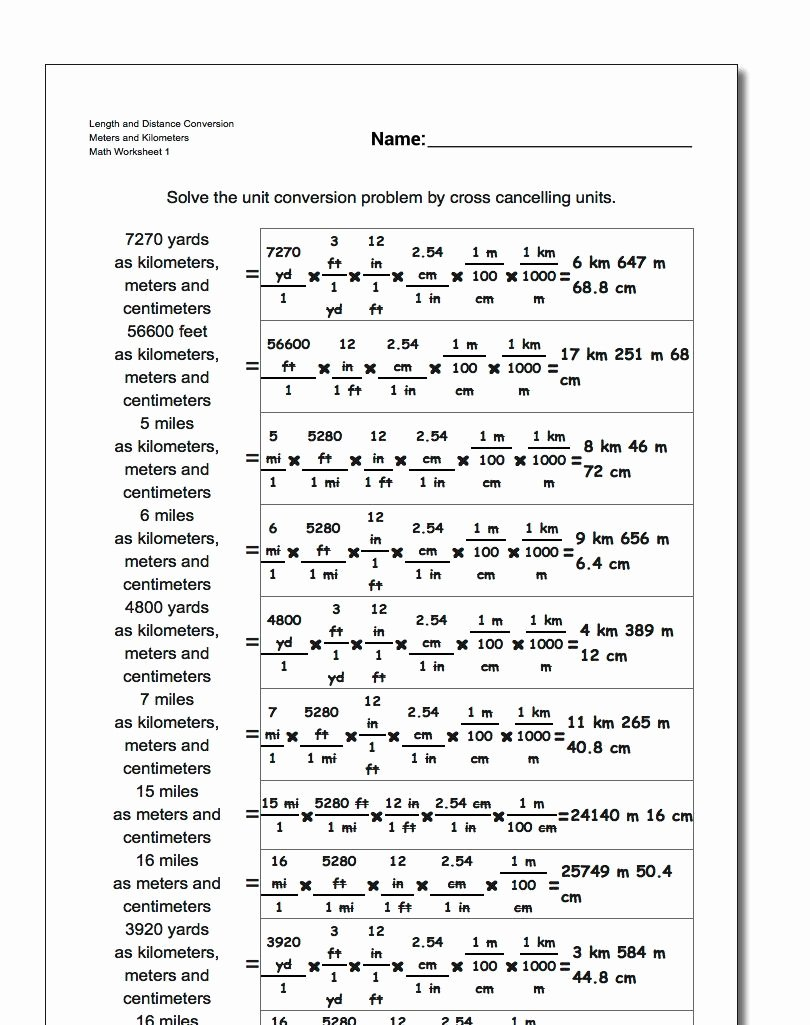 Metric and Customary Conversions Worksheets Ideas Customary Length Worksheets