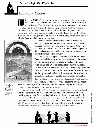 Middle Ages Worksheets 6th Grade Fresh the Middle Ages Life On A Manor Activity Packet Printable