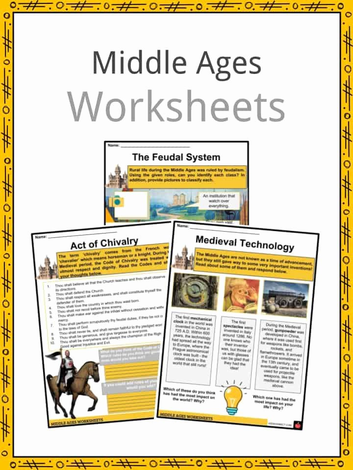 Middle Ages Worksheets 6th Grade Ideas Middle Ages Facts Worksheets events Culture & Traditions
