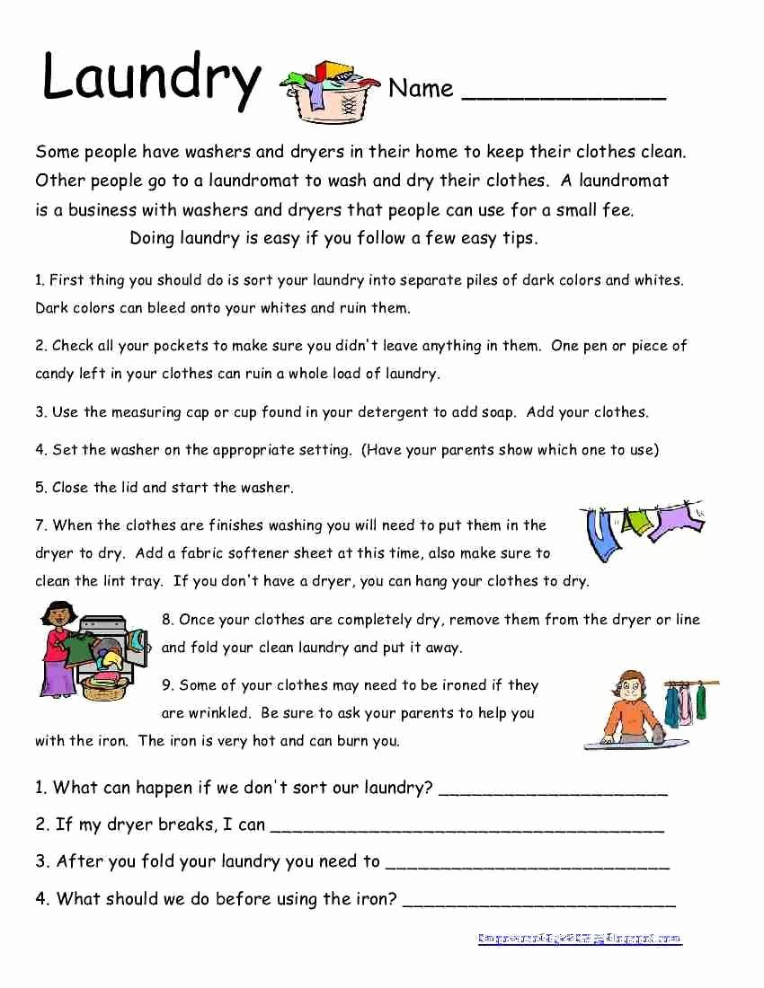Middle School Life Skills Worksheets Fresh Here is Another Life Skills Worksheet I Wish All My