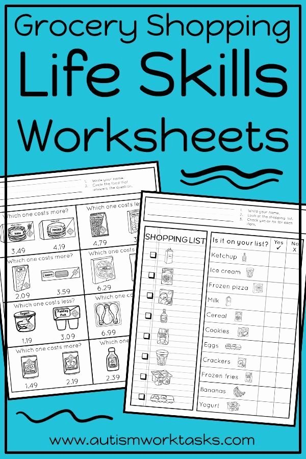 Middle School Life Skills Worksheets Inspirational these Life Skills Worksheets are Perfect for Independent