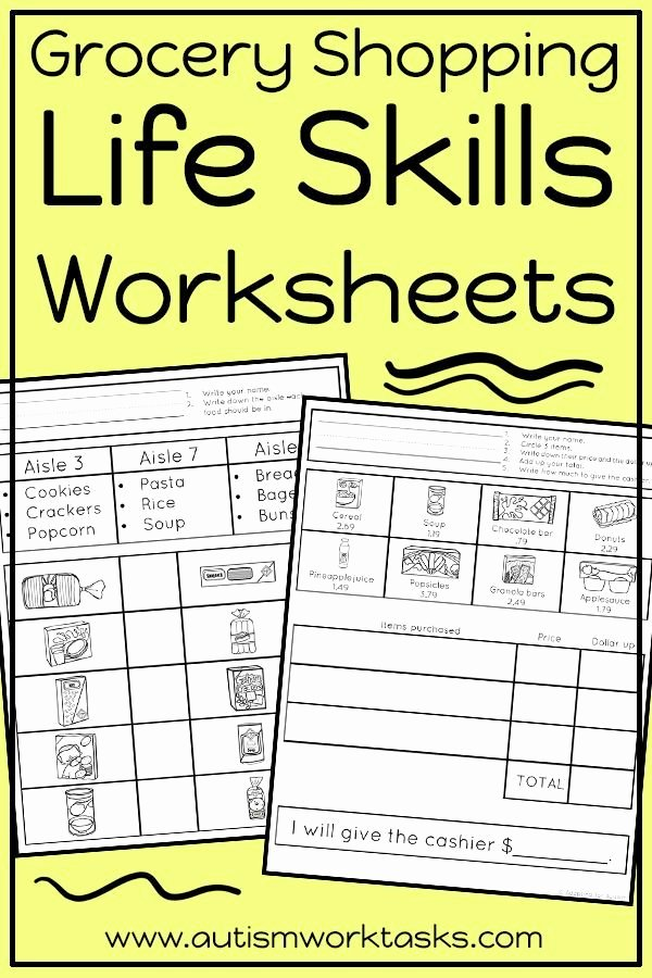Middle School Life Skills Worksheets New these Life Skills Worksheets are Perfect for Independent