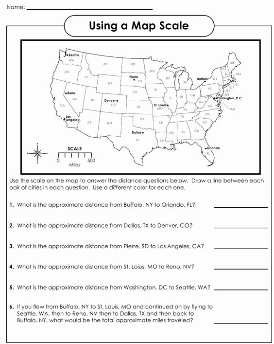 Middle School Map Skills Worksheets Printable Map Skills Worksheets Middle School Myscres