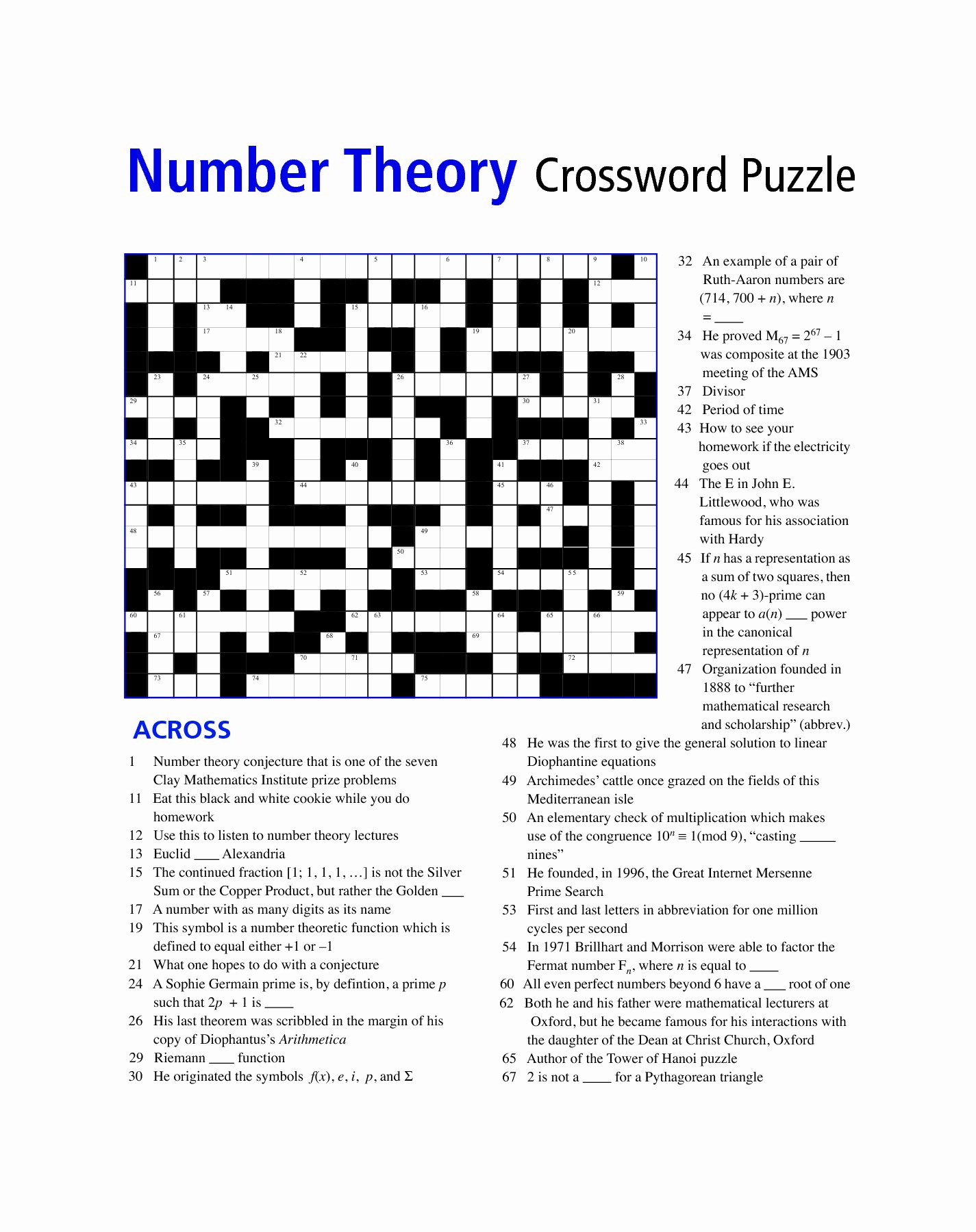 Middle School Math Puzzles Printable Ideas Math Puzzles Worksheet for Middle School